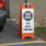 Mimicade Sign Frame In Use Valet Parking Image