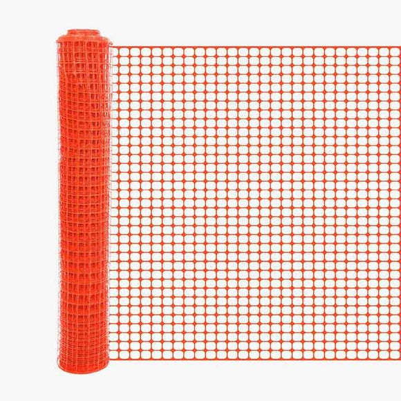 Orange Barrier Square Mesh Fencing - Main Image