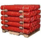 Crowd Control Safety Fencing - Orange Diamond - Pallet of Rolls Image