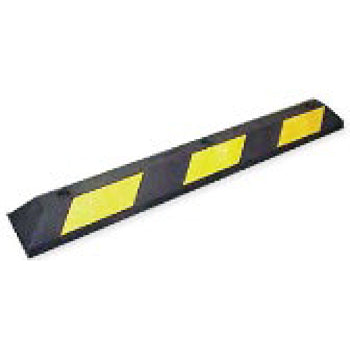 Park-It Decorative Car Stop Parking Blocks Black and Yellow Image