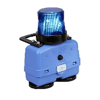 Portable Strobe Light Blue Pictures With Optional Handle and Magnetic Base Image