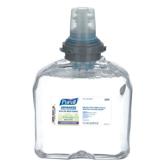 Purell Advanced Hand Sanitizer Green Certified Gel TFX Refill 1200 mL Image