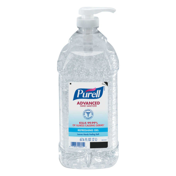 Purell®Advanced Instant Hand Sanitizer Gel Fragrance Free CT 2L Pump Bottle Image