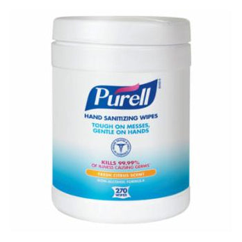 Purell Instant Hand Sanitizer Wipes  Citrus Scent in 270 Sheet Canister Image