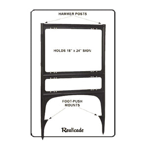 Realicade Sign Stand Black Diagram and Image