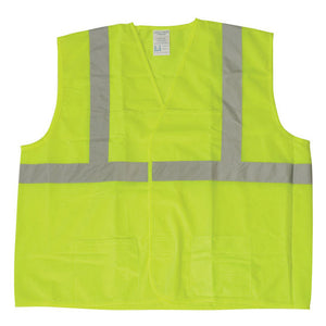 Safety Vests with Silver Stripes Class 2 Orange Image