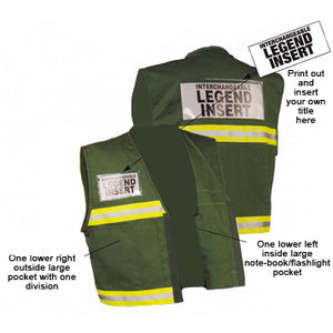Series 400 Incident Command Vests With Interchangeable Legends Front and Back Views Image