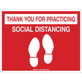 Social Distancing Floor Sign - Rectangular