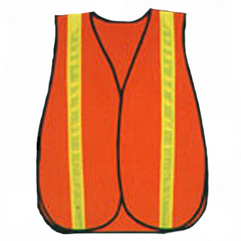 Solid Value Safety Vest in Orange With 1 3/8 in. (W) Reflective Front View Image