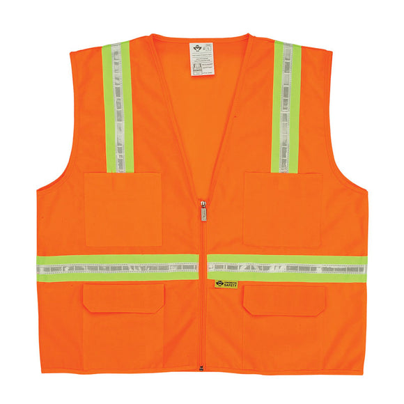Surveyor's Vest with Contrasting Stripes Orange Image