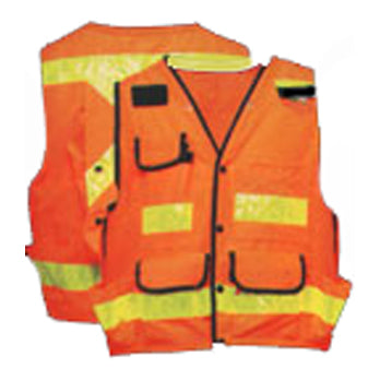 TSV Safety Surveyor Vest in Orange Front and Back View Image