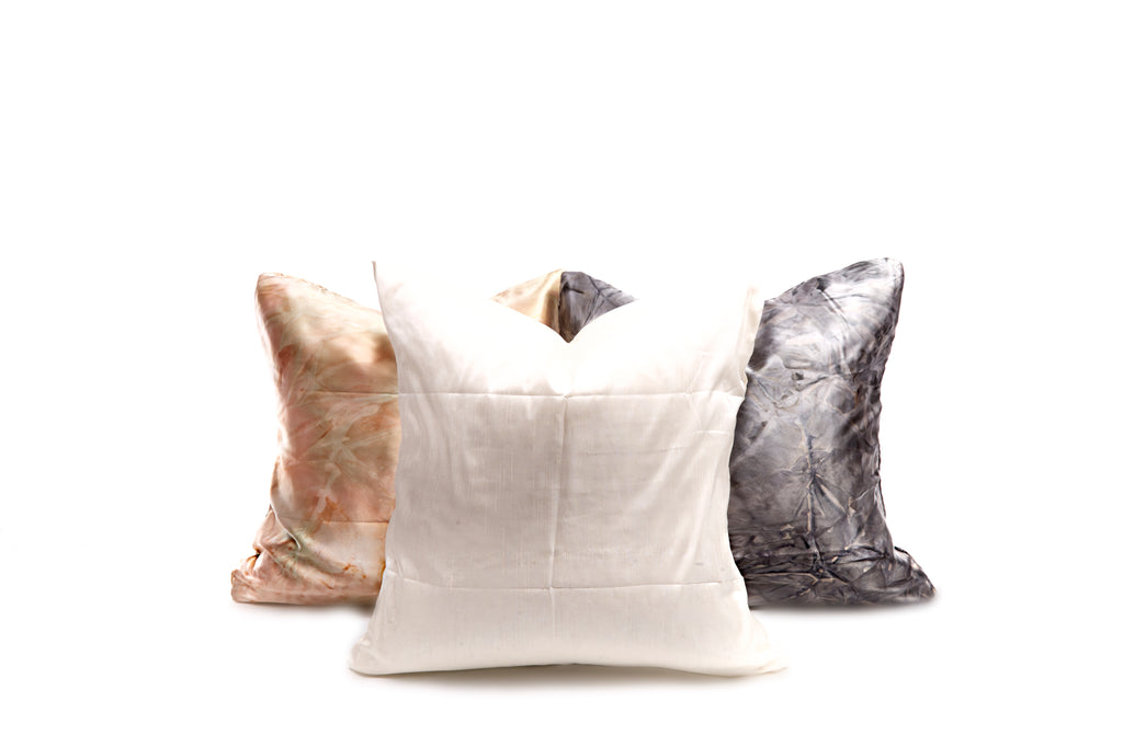 White Silk Pillow