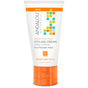 Argan Oil & Shea Moisture Rich Styling Cream - 1.7 oz