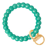 marbled sea green bubble bangle with gold clasp