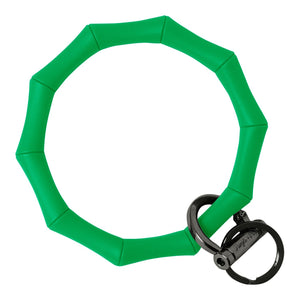 Bamboo Inspired Bangle & Babe Bracelet Key Ring Bamboo – Kelly Green Black