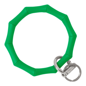 Bamboo Inspired Bangle & Babe Bracelet Key Ring Bamboo – Kelly Green Silver