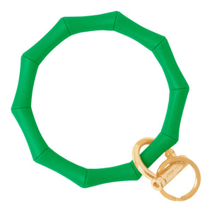 Bamboo Inspired Bangle & Babe Bracelet Key Ring Bamboo – Kelly Green Gold