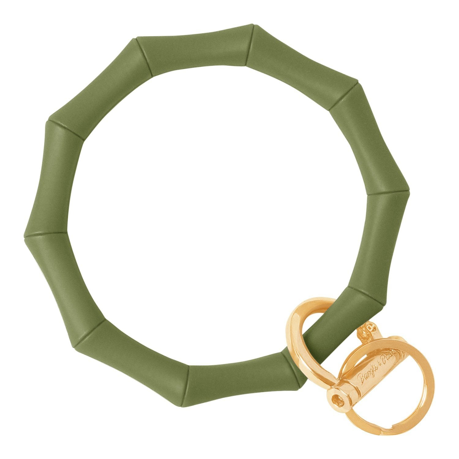 Bamboo Inspired Bangle & Babe Bracelet Key Ring Bamboo – Army Green Gold