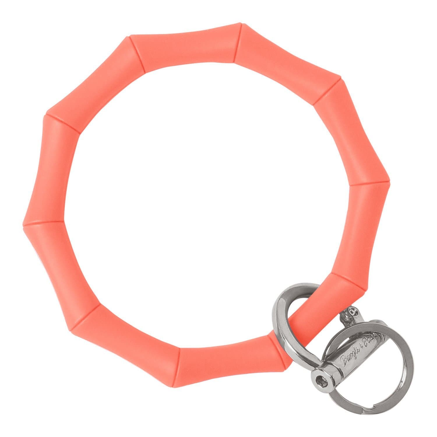 Bamboo Inspired Bangle & Babe Bracelet Key Ring Bamboo – Coral Silver