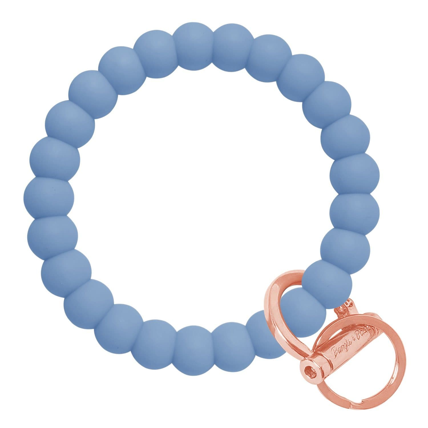 Bubble Inspired Bangle & Babe Bracelet Key Ring Bubble - Slate Blue Rose Gold
