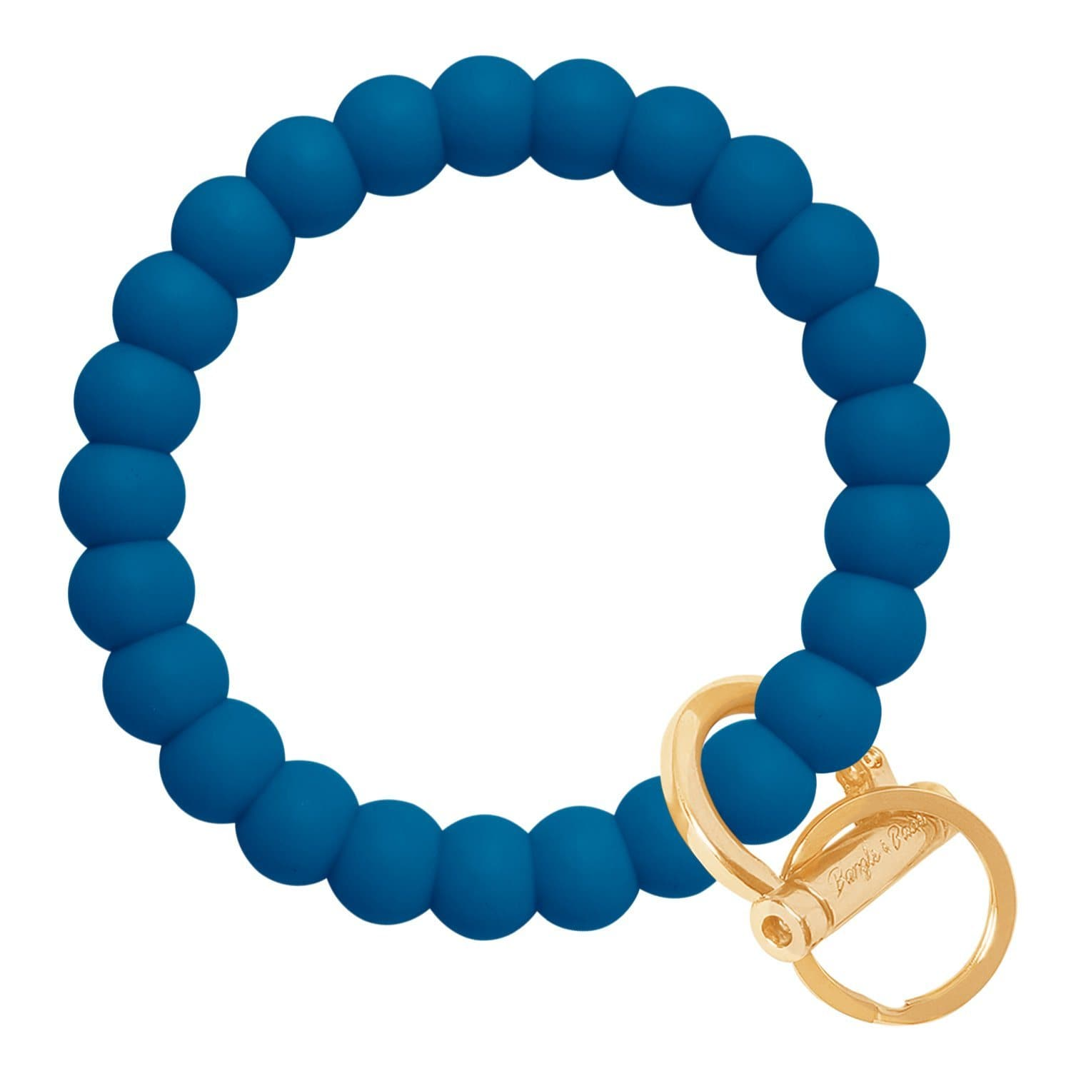 Bubble Inspired Bangle & Babe Bracelet Key Ring Bubble - Indigo Blue Gold