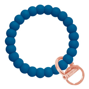 Bubble Inspired Bangle & Babe Bracelet Key Ring Bubble - Indigo Blue Rose Gold