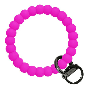 Bubble Inspired Bangle & Babe Bracelet Key Ring Bubble - Deep Neon Pink Black