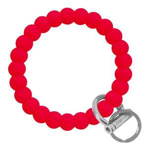 Bubble Inspired Bangle & Babe Bracelet Key Ring Bubble – Red Silver
