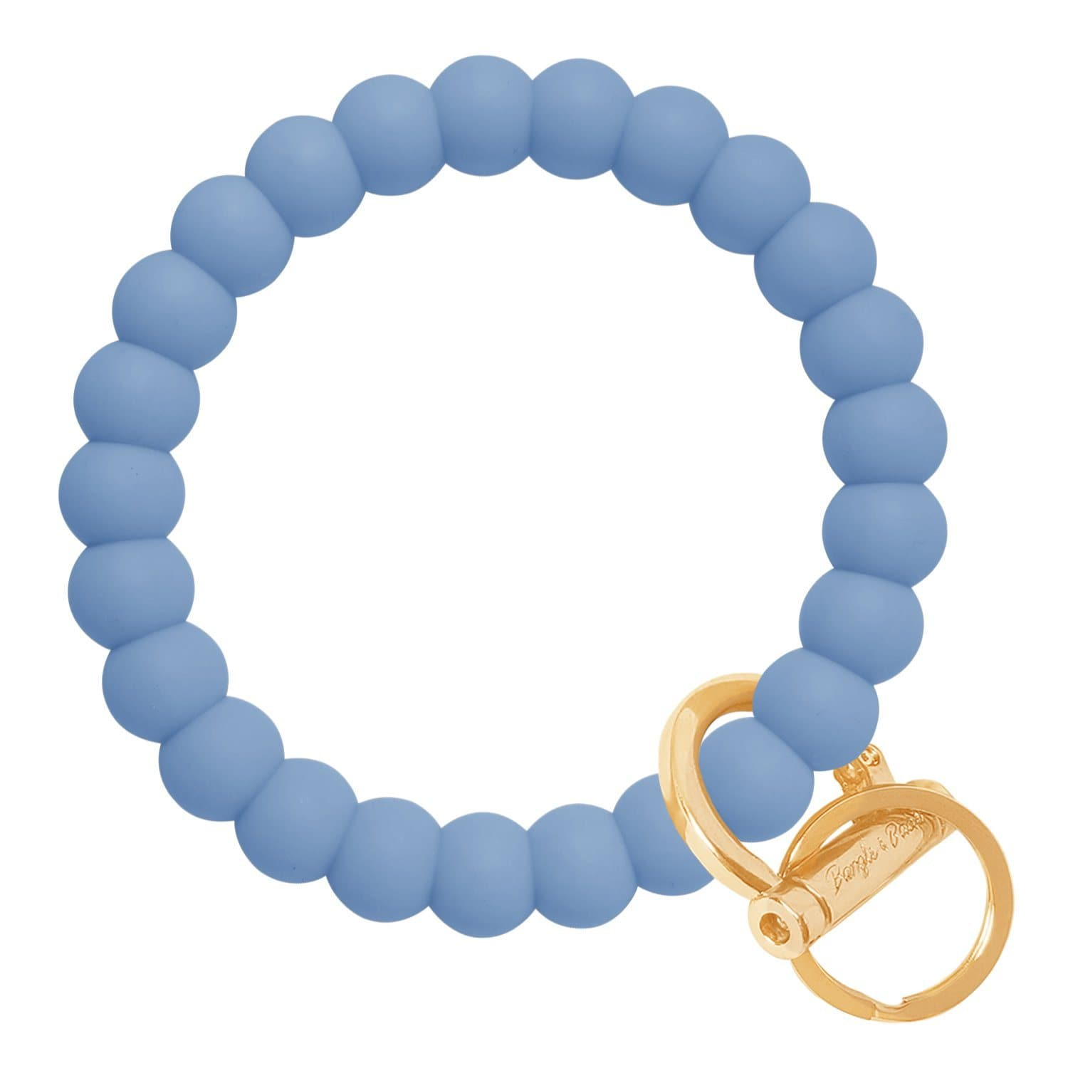Bubble Inspired Bangle & Babe Bracelet Key Ring Bubble - Slate Blue Gold