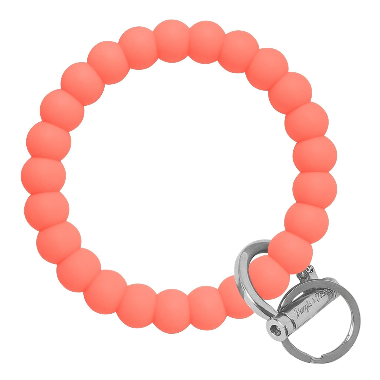 Bubble Inspired Bangle & Babe Bracelet Key Ring Bubble – Coral Silver