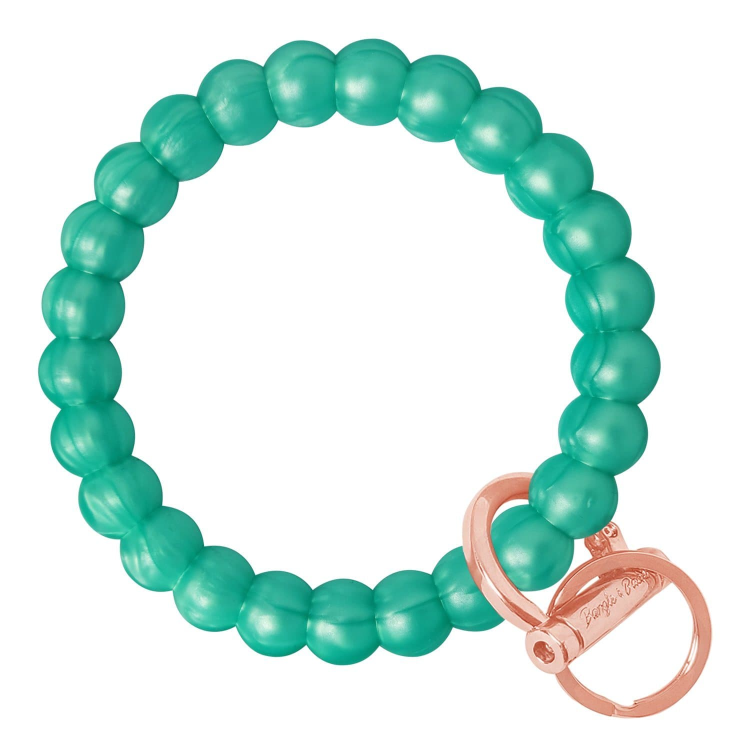 Bubble Inspired Bangle & Babe Bracelet Key Ring Bubble – Marbled Sea Green Rose Gold