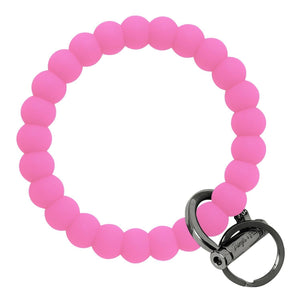 Bubble Inspired Bangle & Babe Bracelet Key Ring Bubble - Bright Pink Black