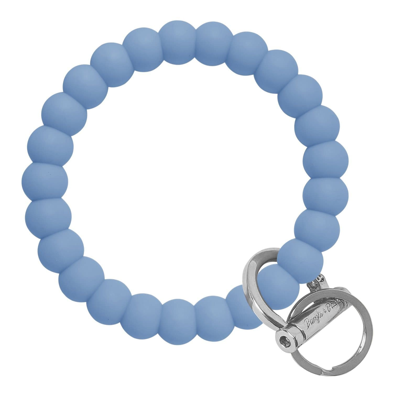 Bubble Inspired Bangle & Babe Bracelet Key Ring Bubble - Slate Blue Silver