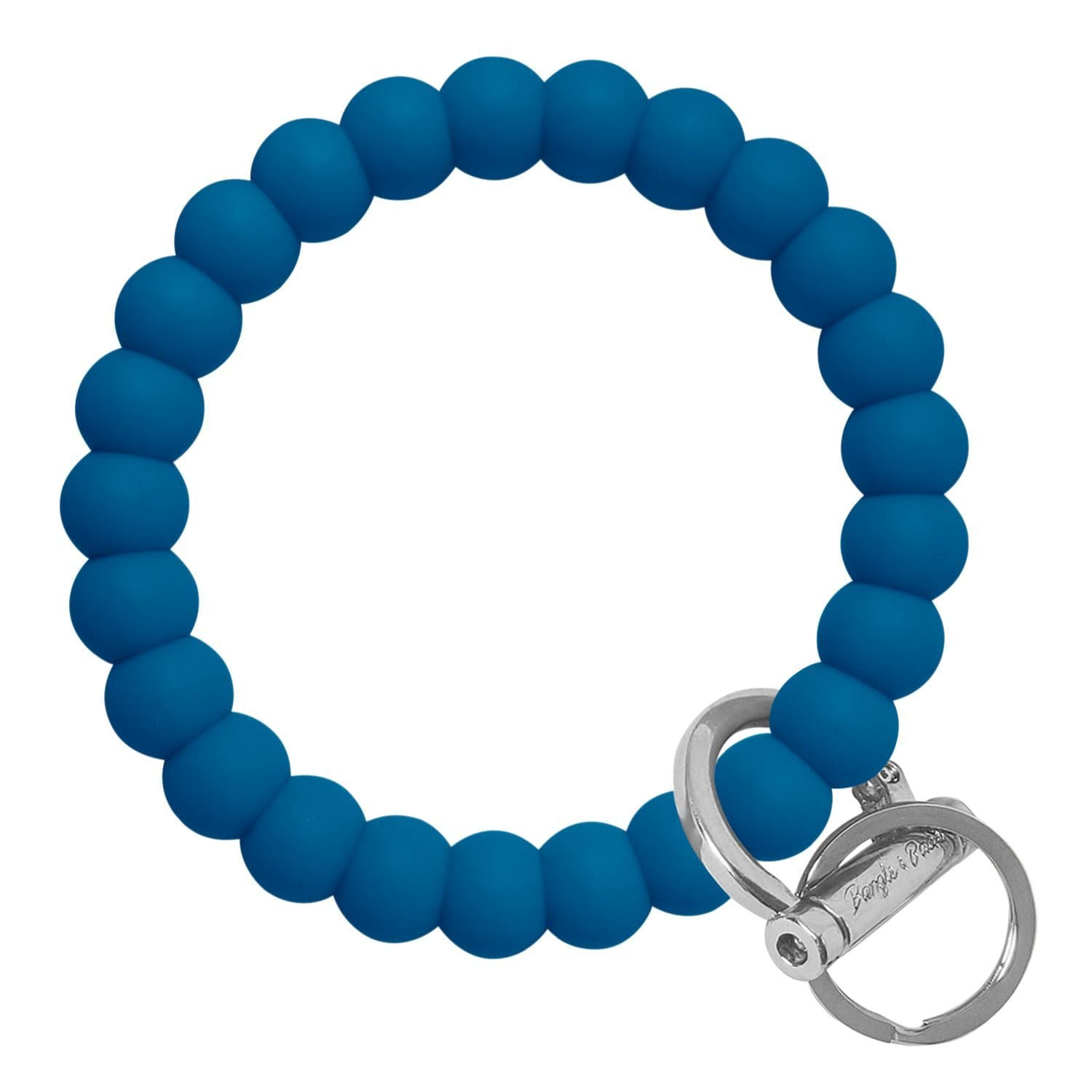 Bubble Inspired Bangle & Babe Bracelet Key Ring Bubble - Indigo Blue Silver
