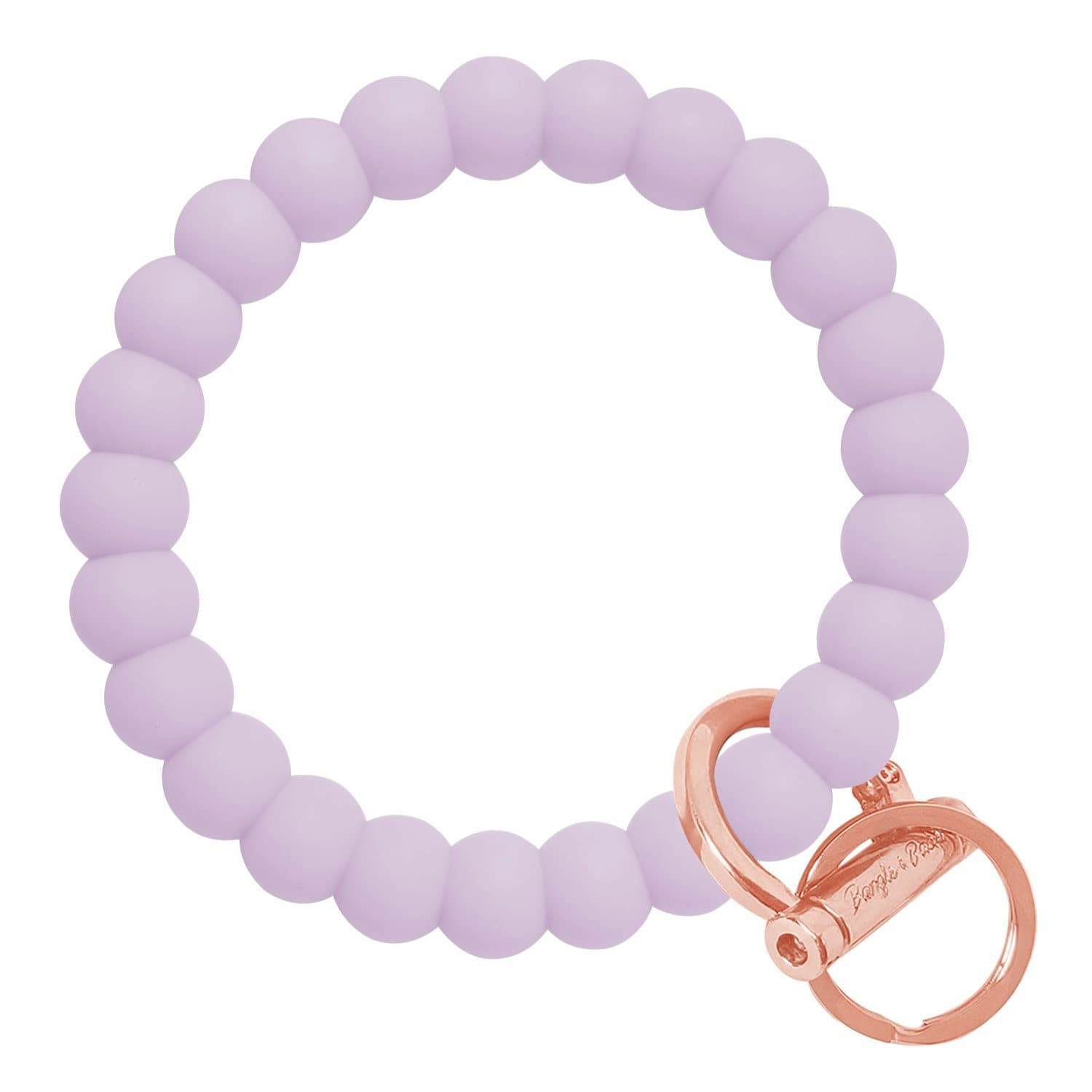 Bubble Inspired Bangle & Babe Bracelet Key Ring Bubble - Pastel Lilac Rose Gold