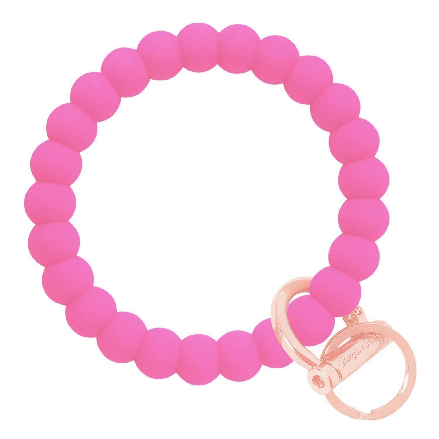 Bubble Inspired Bangle & Babe Bracelet Key Ring Bubble - Bright Pink Rose Gold
