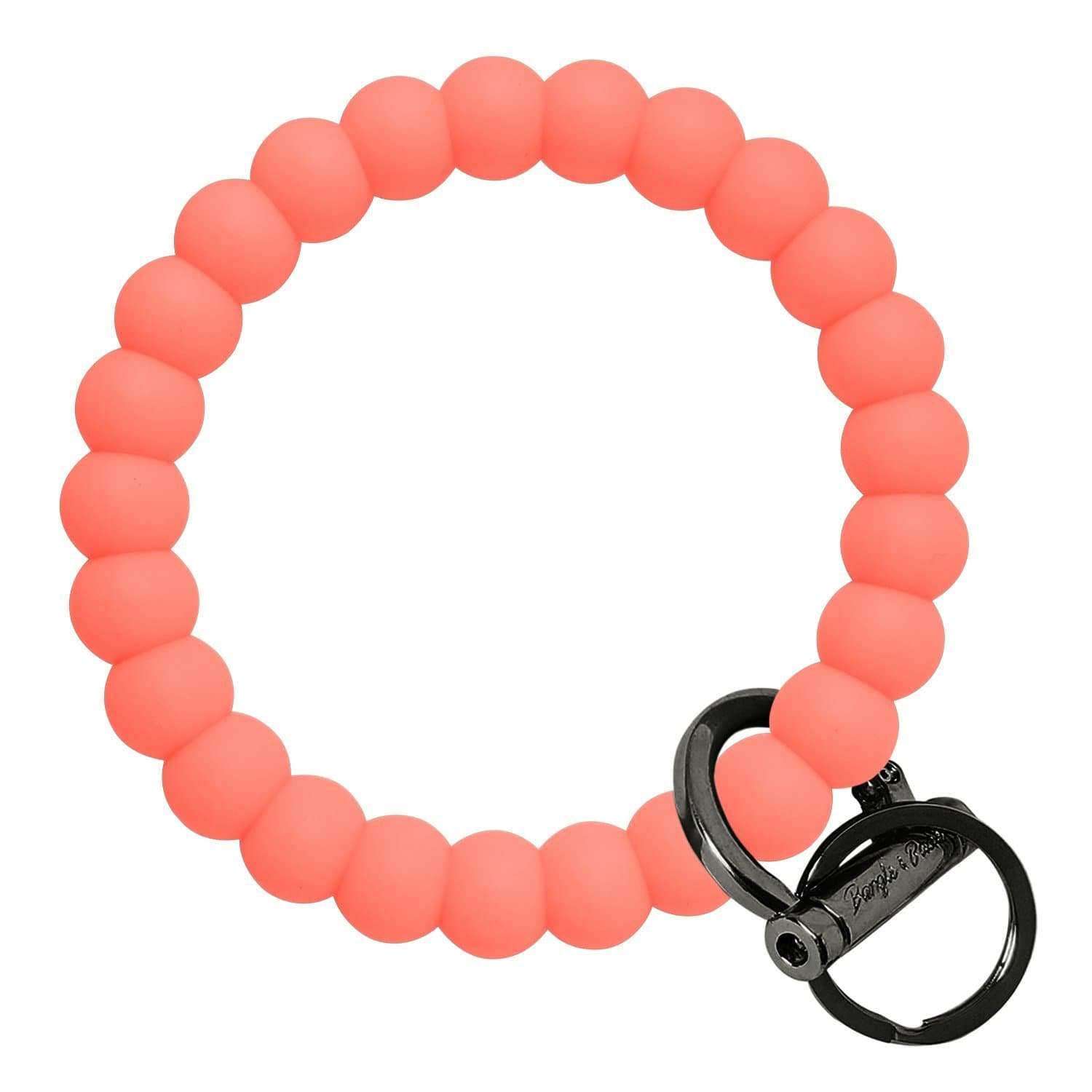 Bubble Inspired Bangle & Babe Bracelet Key Ring Bubble – Coral Black