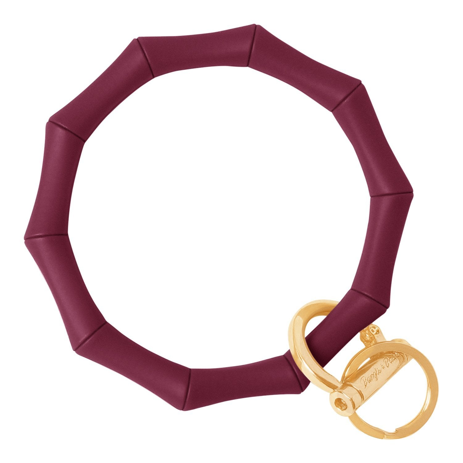 Bamboo Inspired Bangle & Babe Bracelet Key Ring Bamboo – Maroon Gold