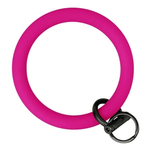 Original Bangle & Babe Bracelet Key Ring Deep Neon Pink Black