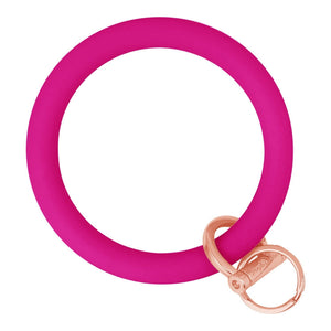 Original Bangle & Babe Bracelet Key Ring Deep Neon Pink Rose Gold