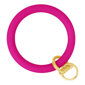 Original Bangle & Babe Bracelet Key Ring Deep Neon Pink Gold