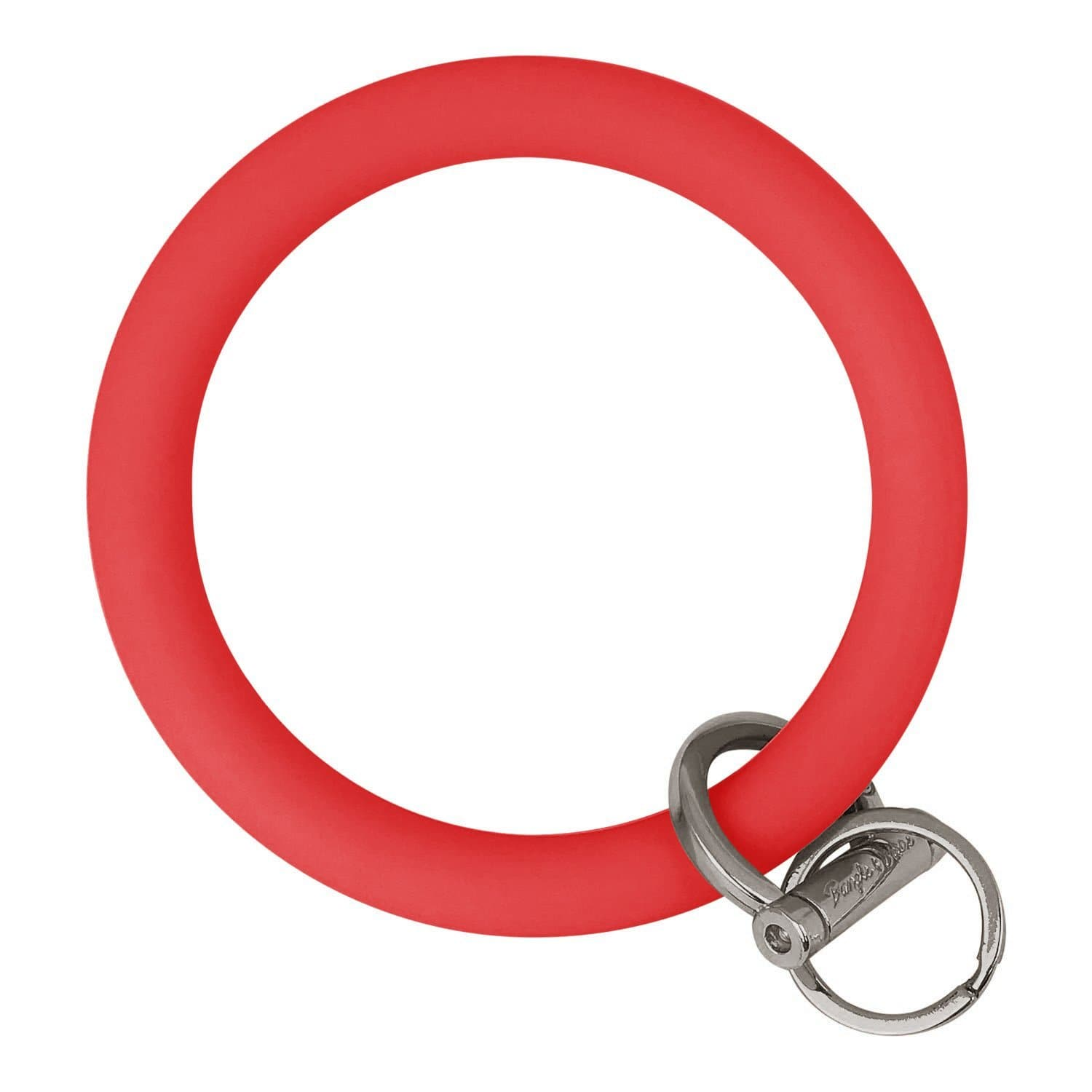 Original Bangle & Babe Bracelet Key Ring Red Silver