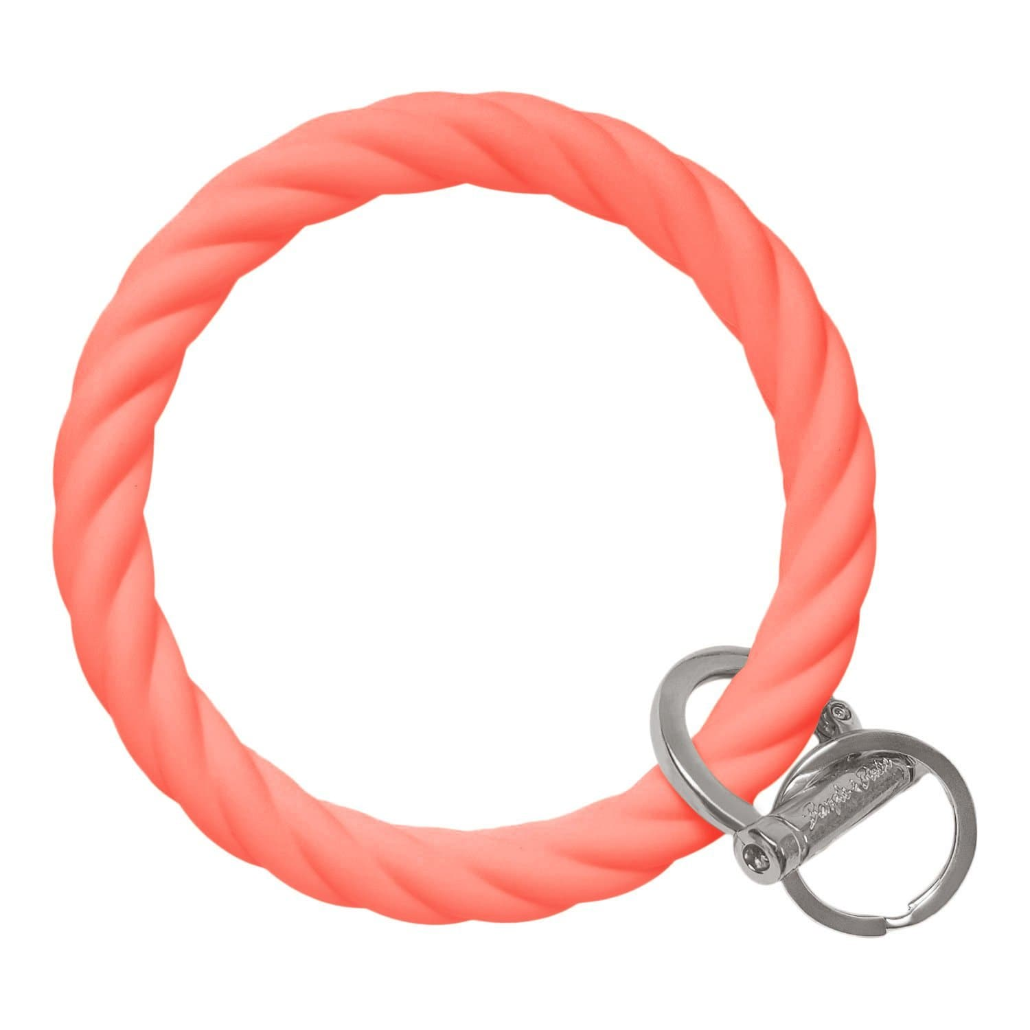 Twisted Bangle & Babe Bracelet Key Ring Twist – Coral Silver