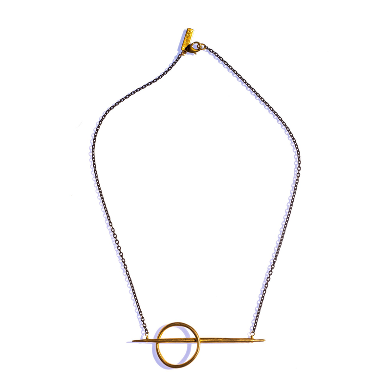 Small Lateral Quill Rising Necklace