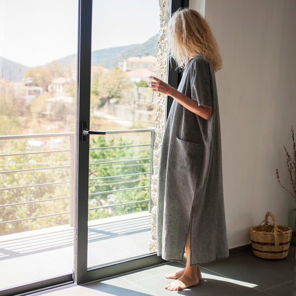 Sile Caftan / Charcoal