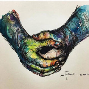 sample3_hands - Loose watercolor works