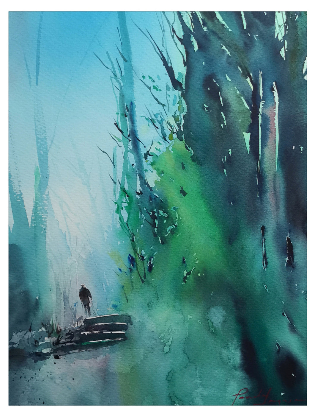solitary walks - Loose watercolor works