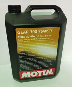 5 Litre Bottle Of Motul Gear 300 75W90 100% Synthetic Gear Oil
