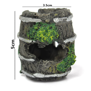 Fish Tank Cave Landscaping Resin Barrel Ornament