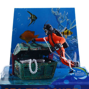 Treasure Hunter Diver Fish Tank Ornament Aquarium Decoration Accessories